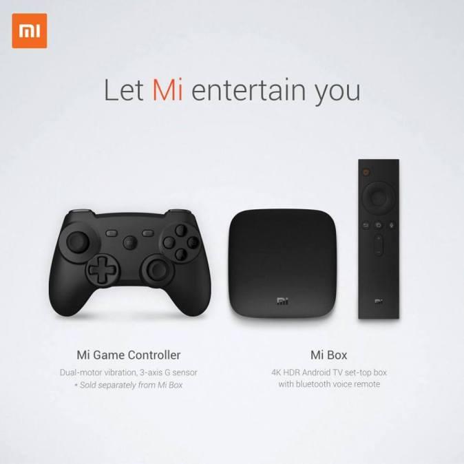 mi Box and mi game controller