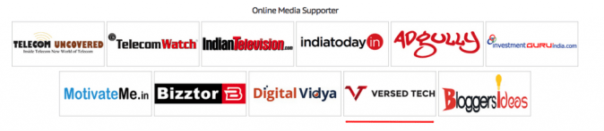 Online Media Supporters for India Affiliate Summit 2016