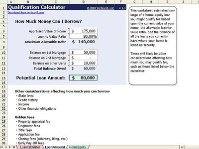 Home Equity Calculator - Free Home Equity Loan Calculator for Excel