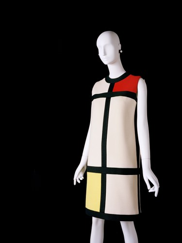 YSL dress inspired by the paintings of Piet Mondrian