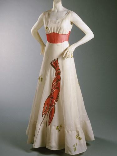 Elisa Schiaparelli's lobster dress inspired by Dali