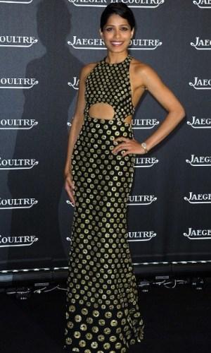 In the Alexander McQueen sari dress, 2012