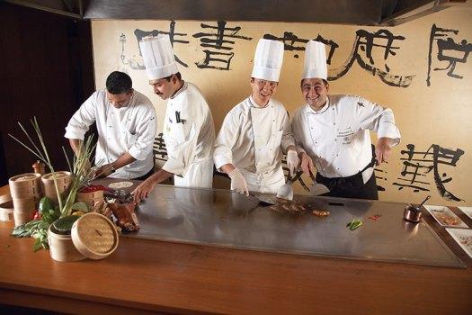 Crafting a treat: (L-R) Chefs Joy Bhattacharya, Amit Gugnani, Xianchun Meng, Emanuele Lattenzi
