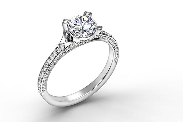 Diamond-studded ring from Forevermark.