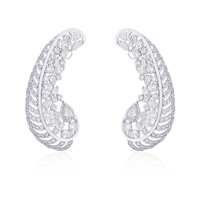 Forevermark by NAC Jewellers ear cuffs with diamonds in 18-carat white gold