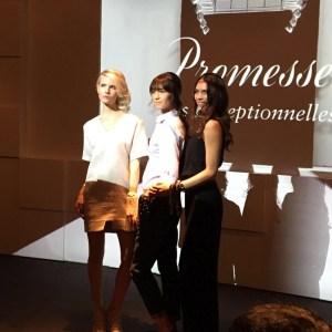 Models showcasing the Promesse line at Baume et Mercier