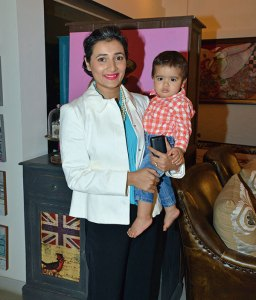 Schauna Chauhan with her son Jahaan