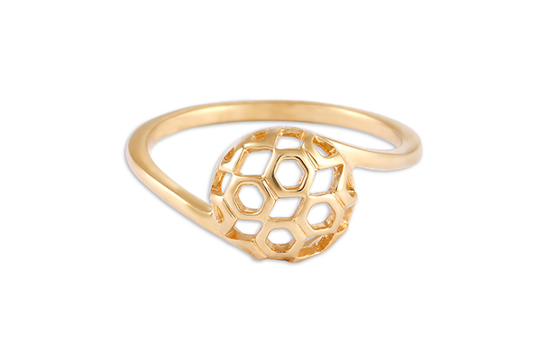 Yellow gold ring from the Tanishq Mia collection.