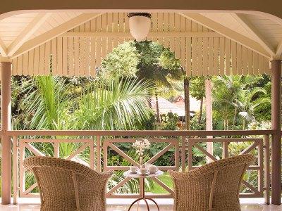 A verandah with a view