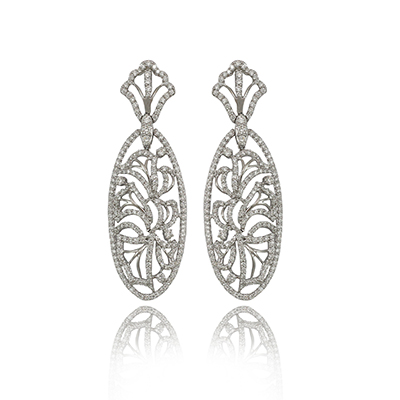 Zoya Naturesque earrings with diamonds in white gold