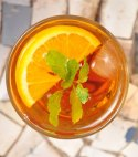 orange and green tea mojito