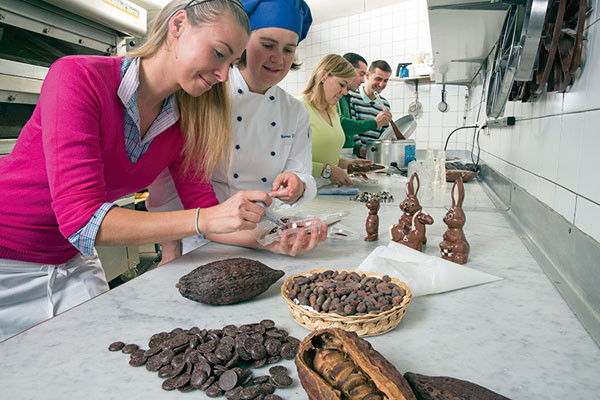 Chocolate making at Hanselmann Confectionery