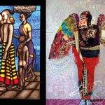 Market Scene, Atul Bakshi, Angel Series, Hojat Amani