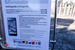 Los precios de las audioguías en Colosseo-Foros