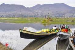 Barcas en Inle Lake