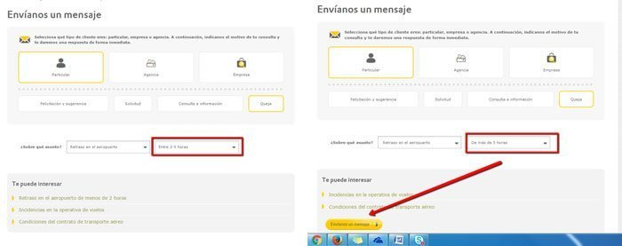 Enviar reclamación desde web