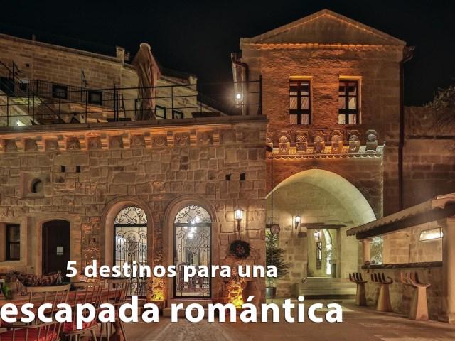 5 destinos para una escapada romántica