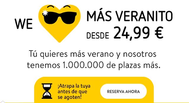 1.000.000 de plazas desde 24,99 euros