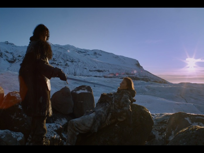 Jon Snow and Ygritte meet Beyond the Wall