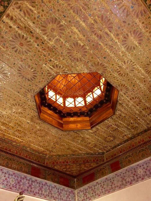 Ceiling of our bedroom in Marrakesh