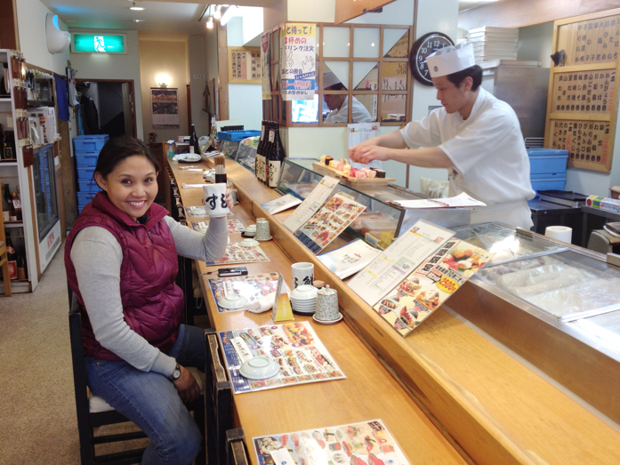 Early morning sushi at Tsukiji