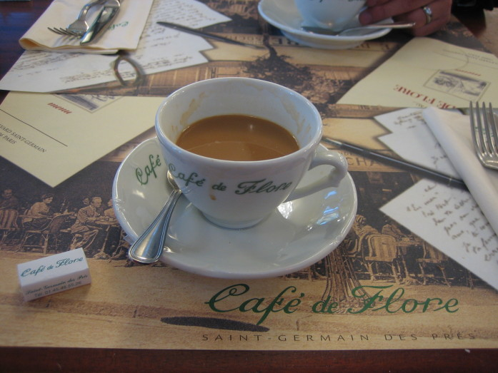 Sitting in a historic cafe is one of many revered Parisian moments