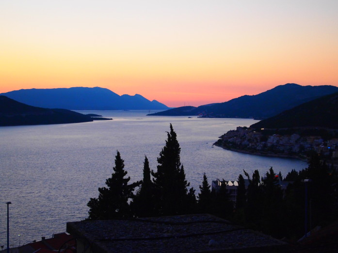 Beautiful sunset view from Hvar