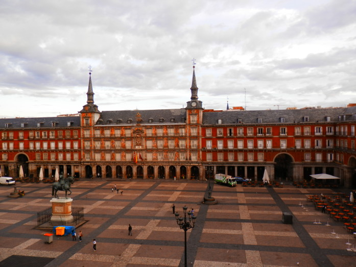 Majestic Plaza Mayor from our Madrid apartment