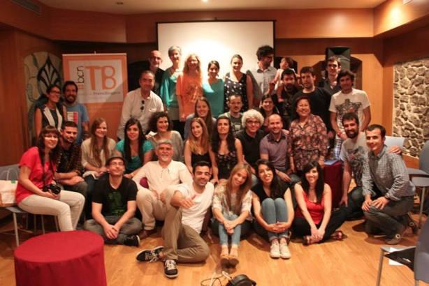Miembros de BcnTb en la celebración del #BcnTb1any