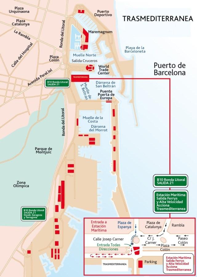 Estación Marítima de TRASMEDITERRANEA en el Puerto de Barcelona