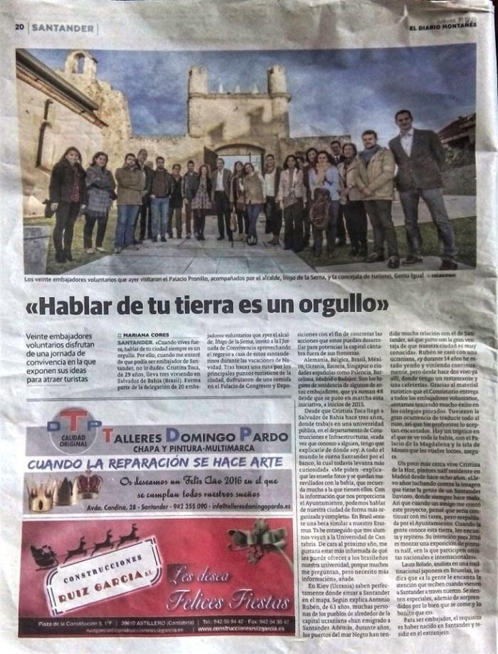 Diario Montañés: Hablar de tu tierra es un orgullo
