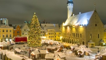 Christmas Market, Town Hall Square, Tallinn, Estonia