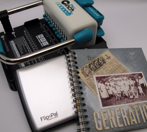Flip Pal Mobile Scanner and a Generations Family Album