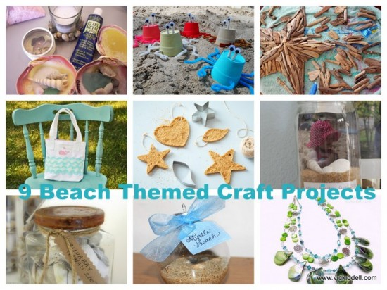9 Beach Themed Craft Projects