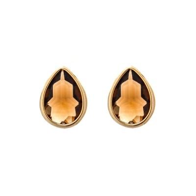 Jules Bridesmaid Earrings – Deep Gold