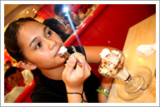 Patti and ice cream