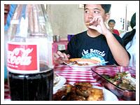 Gino eating