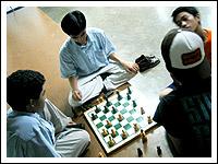 Bill, Jacob, Toff, Bodi, chess