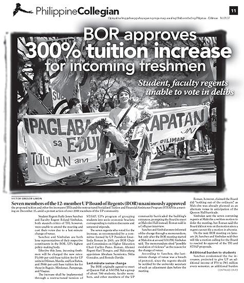 Philippine Collegian Issue 11