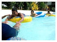 at the river pool