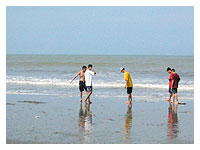 classmates at the beach