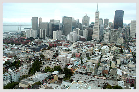 San Francisco view from Coit Tower