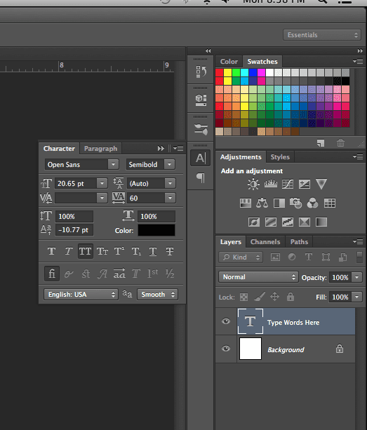 add text in photoshop 4