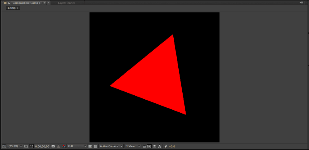how to draw triangle in after effects 4