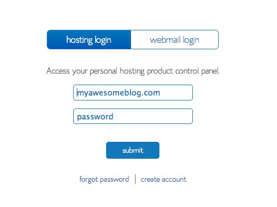 9-Bluehost login