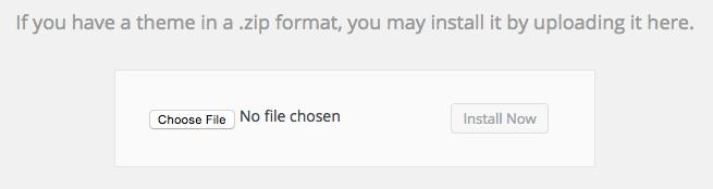 choose theme zip file