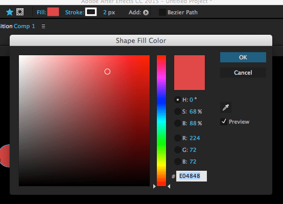 after effects fill color