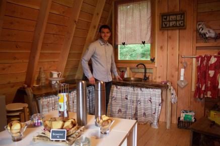 Rêves de nature Holztipi Normandie Frankreich ausgefallen übernachten Ferienwohnung
