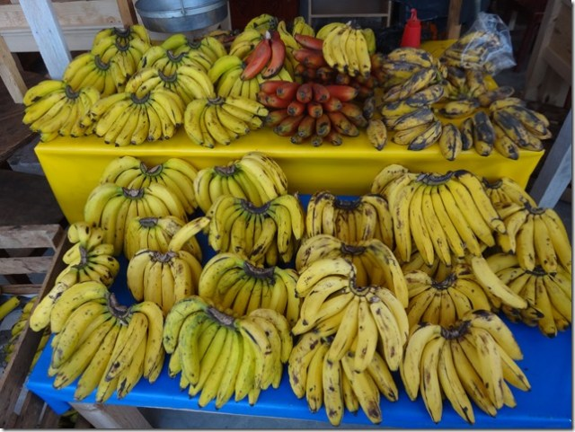 Loads of street stall bananas