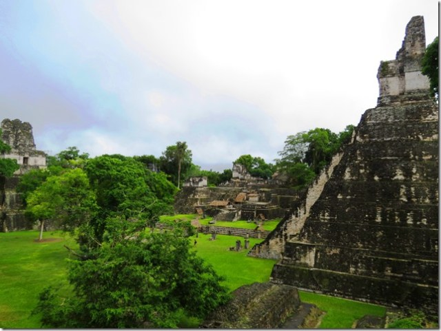 Temple pyramids at the Great Plaza in Tikal